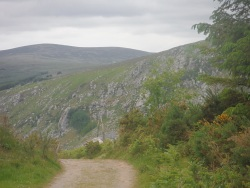 Road to Lough Dan beach