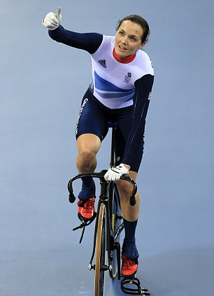 Pendleton waves to the crowd after winning a Silver Medal at London 2012 Olympics.