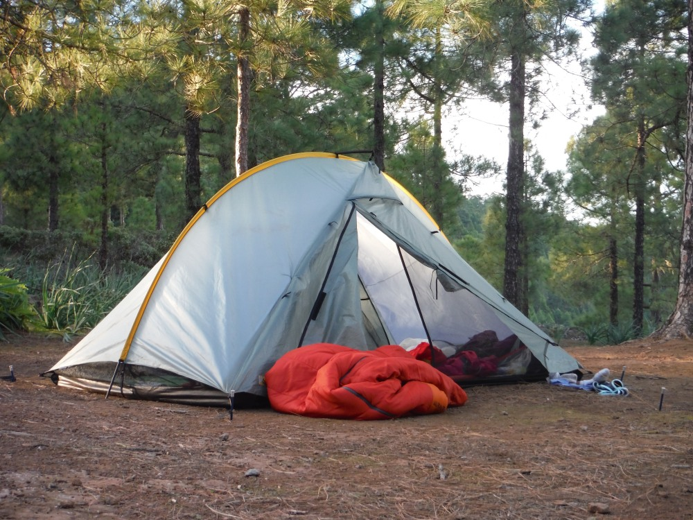 Rainbow Tarp Hiking tent and camping gear